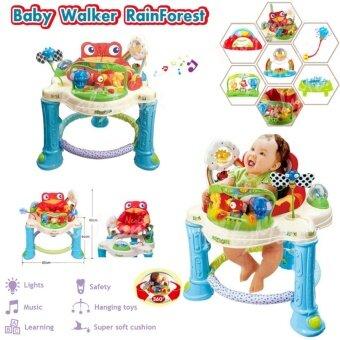 Baby Walker RainForest รถหัดเดิน เก้าอี้หมุนได้ 360 องศา ของเล่นเสริมพัฒนาการ พร้อมเสียงเพลงดนตรีสนุกน่ารัก nontoxic