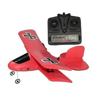 FX808 ชุดเครื่องบิน 2 ch ปีกสองชั้น Model Red Baron บังคับวิทยุ 2.4 Ghz ชุดพร้อมบิน - สีแดง