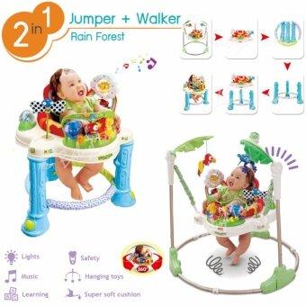 BabyMom Neolife - JumperWalker 2in1 จัมเปอร์ รถหัดเดิน ในชุดเดียว เก้าอี้กระโดด 360 องศา ของเล่นเสริมพัฒนาการ พร้อมเสียงเพลงดนตรีสนุกน่ารัก nontoxic