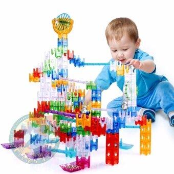 Ball Maze Building Block ชุดตัวต่อ เขาวงกต รางปริศนา พร้อมลูกเหล็ก48ชิ้น
