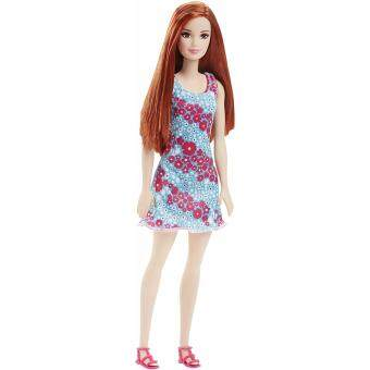 Barbie® Doll - Barbie White & Pink Floral On Blue Dress