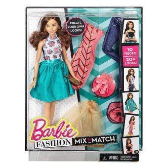 Barbie Fashion Mix N Match Doll รุ่น DJW57 (สีเขียว)