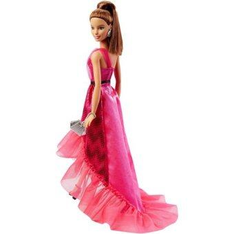 Barbie Pink and Fabulous Gown Doll (สีแดง)