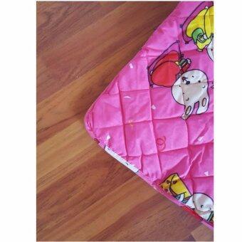 Barbiebelle ที่นอนเด็กเล็ก / เด็กอนุบาลพร้อมหมอน ลายการ์ตูนน่ารักBedding Kids (สีชมพู) - 4