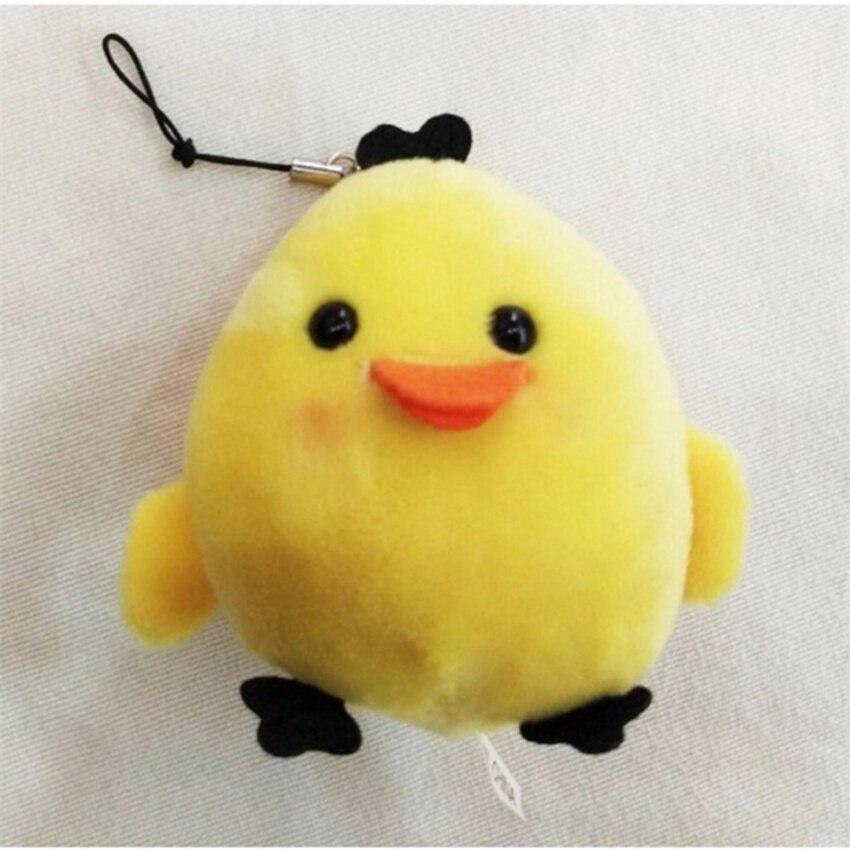 Bear Chicken String Pendant Plush Stuffed TOY DOLL Soft Plush Toys of Bouquet WF Yellow 6cm - intl