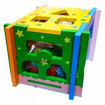 ของเล่นไม้ กล่องไม้เรียนรู้ 5 ด้าน FW-1467