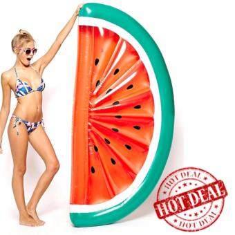 ห่วงยาง Big Size ห่วงยางแฟนซี แพยางเป่าลม ที่นอนเป่าลม แตงโม watermelon 180 cm (สีแดง)