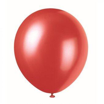 BK Balloon ลูกโป่งกลม ขนาด 10 นิ้ว จำนวน 100 ลูก (สีแดงมุก)