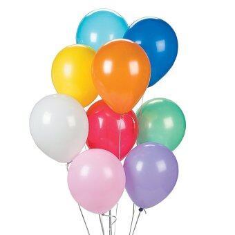 BK Balloon ลูกโป่งกลมสีธรรมดา คละสี ขนาด 6 นิ้ว จำนวน 110 ลูก