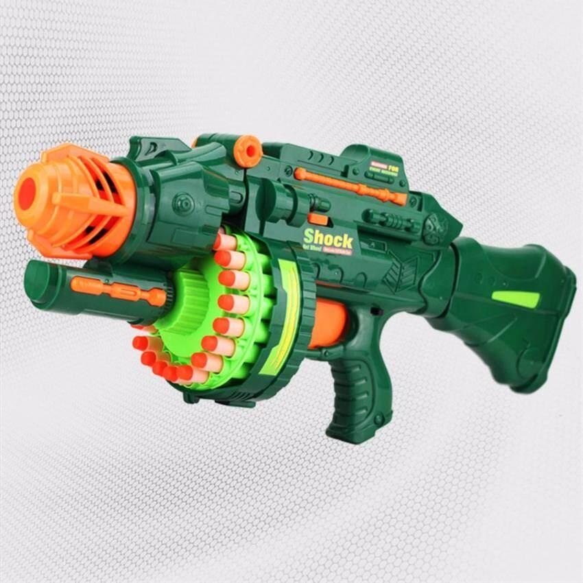 Blaze Storm Kids Children Boys Girls Soft Dart Machine Bullet Battle Gun with 20 Foam Safety Bullets and 20 Suckers image