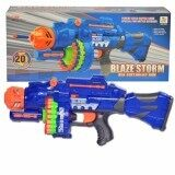 Blaze Storm Kids Children Boys Girls Soft Dart Machine Bullet Battle Gun with 20 Foam Safety Bullets and 20 Suckers