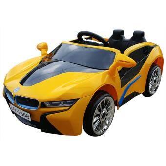 BMW i8 12V 2 Motors รถแบตเตอรี่ รถเด็กนั่งไฟฟ้า รถเด็กเล่นบังคับวิทยุ - สีเหลือง