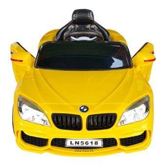 รถเด็กเล่น รถแบตเตอรี่ รถไฟฟ้า รุ่น BMW รุ่น LN5618(สีเหลือง) (image 3)