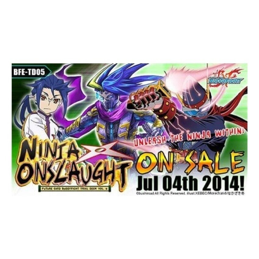 Buddyfight Ninja Onslaught ENGLISH Trial Deck - intl
