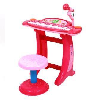 Candyเปียโนเด็ก+เก้าอี้+ไมโครโฟนขนาดใหญ่36KeyselectronicKeyboard