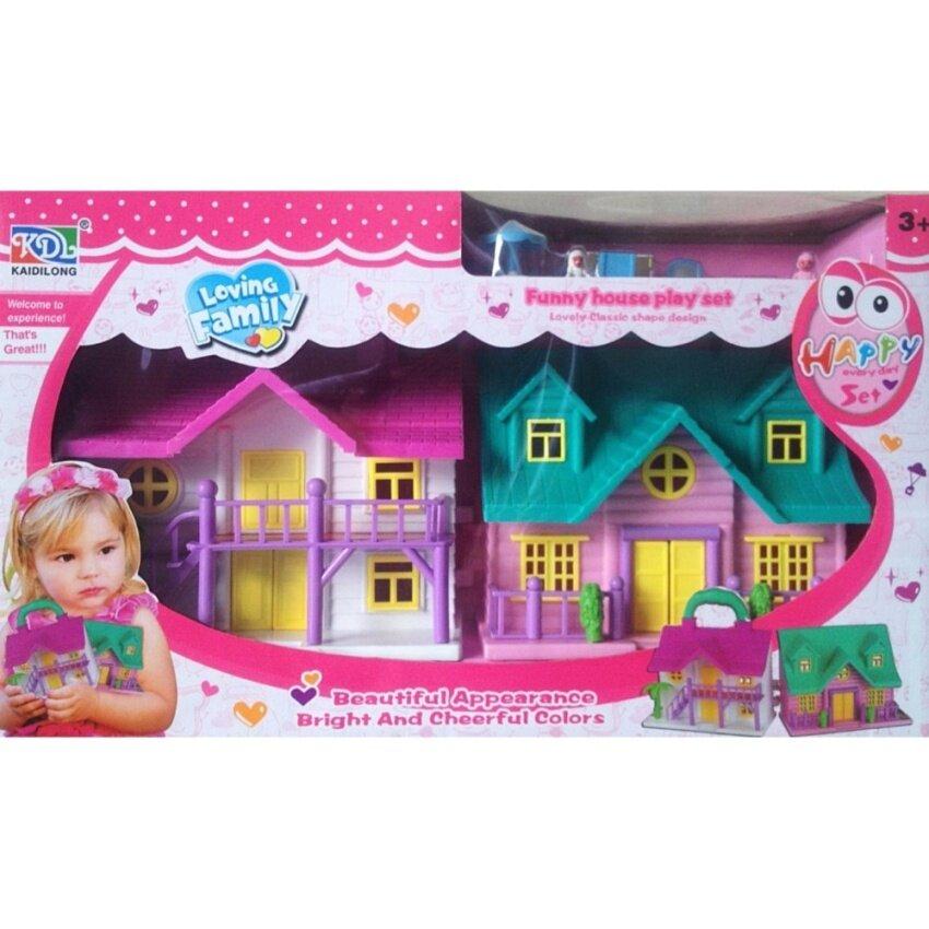 Candy Toy บ้านตุ๊กตา 2 หลัง สามารถนำประกบเป็นกระเป๋าได้ image