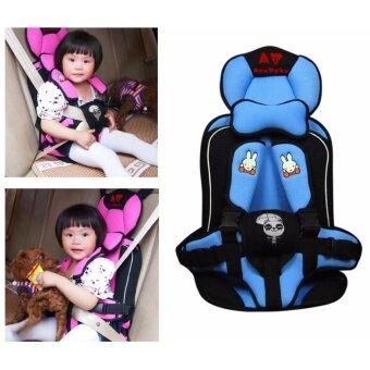 car seat ที่นั่งในรถสำหรับเด็ก อายุ 9 เดือน - 6 ปี รุ่น CH10ลายสก็อตสีดำ/สีชมพู/สีฟ้า /ลายสก็อตสีแดง