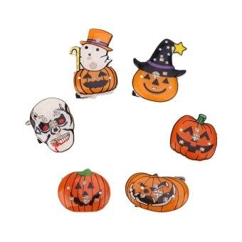Cartoon LED Flashing Badge Brooch Christmas Halloween Gift PartySupply - intl