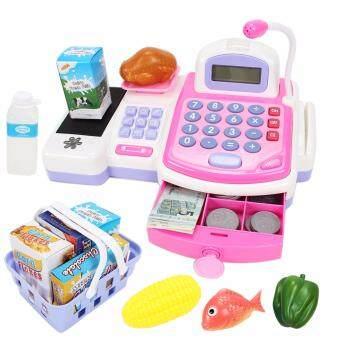 ของเล่น แคชเชียร์คิดเงิน+คิดเลข รุ่น Cash Register (สีชมพู)