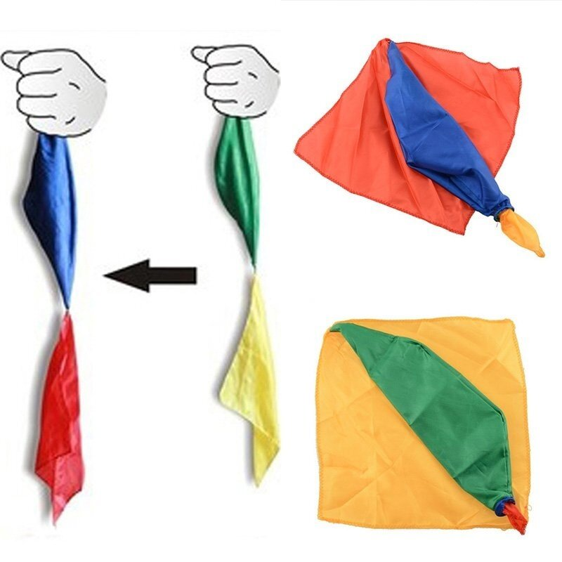 Change Color Silk Magic Trick Joke Props Tools Magician Supplies Toys - intl