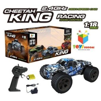 รถบังคับวิทยุ ระบบไฟฟ้า ใช้ถ่านชาร์ท CHEETAH KING 2.4ghz Skala 1.18 Speed 15km.H