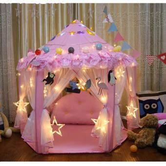 CHIFFON PRINCESS เต็นท์เด็ก เต็นนอน บ้านของเล่น เต๊นท์ เจ้าหญิง เอลซ่า บาร์บี้ เจ้าหญิงดิสนีย์ ( สีชมพู )
