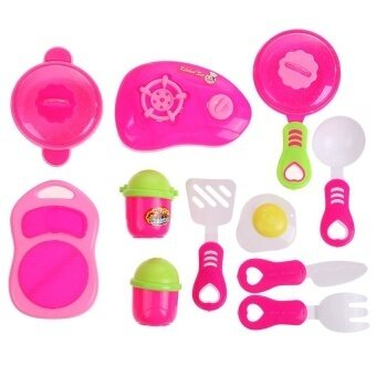 Children Diy Beauty Kitchen Cooking Toy Role Play Toy Set Pink - intl