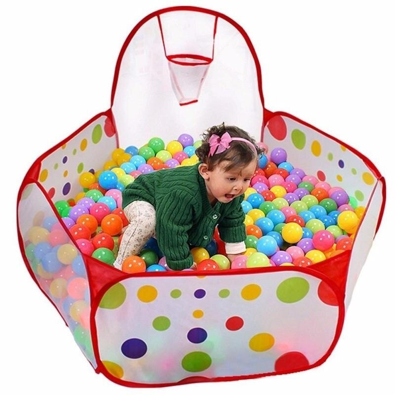 Children's Tent Toy Baby Bobo Indoor Folding Portable Ocean Ball Pool Shooting Game Room Tent Multicolor - intl