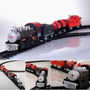 รถไฟราง Classical Train ขนาดใหญ่ มีควันตอนวิ่งเหมือนจริง และรางที่ยาว
