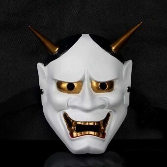 Collectibles Japanese Ghost Hannia Resin Mask Halloween Costumes Scary Theme Party Supplies Dress Up Prop - intl