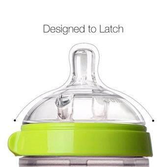 Comotomo Baby Bottle Slow Flow ขวดนมซิลิโคนเสมือนเต้านมมารดาโคโมโตโมสำหรับเด็ก 5ออนซ์ สีเขียว - 5
