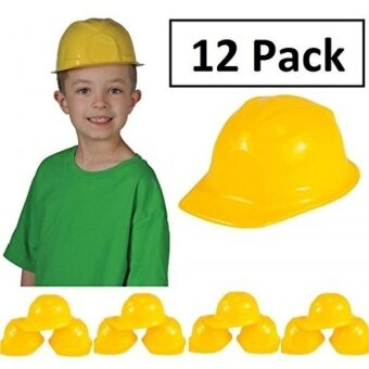 Construction Hat Toy -12 Pack Yellow  For Kids  Boys  Girls  Halloween  Themed Events  Props  Costume  & Dress Up – Kidsco - intl
