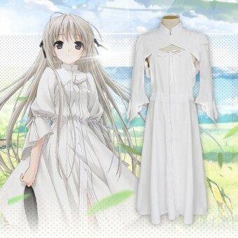 Cos สีขาวฤดูใบไม้ผลิในชีวิตประจำวันเสื้อผ้าชุด
