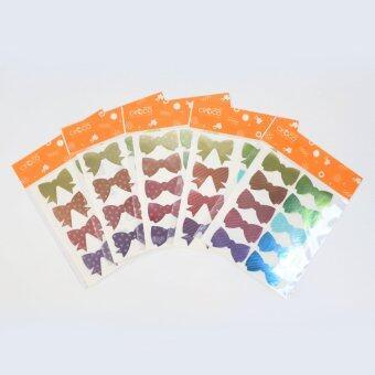 สติ๊กเกอร์พาสเทลเมทัลลิก Bow Collection 5 แพ็ค 4แผ่น/แพ็ค