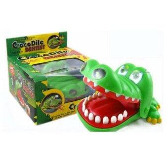 Crocodile Dentist จระเข้งับกัดนิ้ว เกมส์กลุ่ม กิจกรรมกลุ่มทีมเล่นใด้หลายคน (สีเขียว)