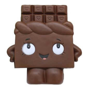 Cute Kawaii Soft Squishy Chocolate Toy Slow Rising for ChildrenAdults Relieves Stress Anxiety Cabinet Decoration Sample Model -intl