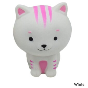 Cute Kawaii Soft Squishy Simulation Cat Shape Toy Slow Rising forChildren Adults Relieves Stress Anxiety - intl