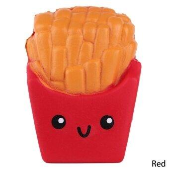 Cute Soft Kawaii Squishy Fries Reduce Pressure Squeeze Fidget Toy -intl
