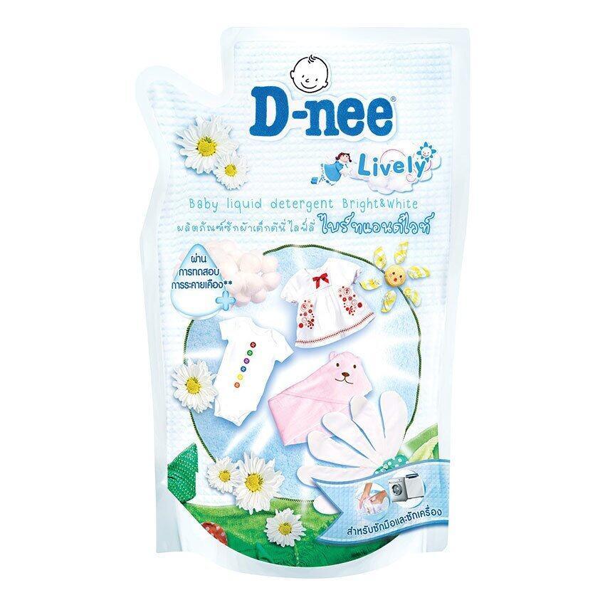 D-nee น้ำยาซักผ้าเด็กดีนี่ไลฟ์ลี่ ไบร์ทแอนด์ไวท์ ชนิดเติม ขนาด 600 มล. (แพ็ค 3)