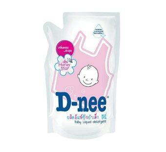 D-nee น้ำยาซักผ้าเด็ก กลิ่น Honey Star ชนิดเติม ขนาด 600 มล. (12 ถุง/ลัง)