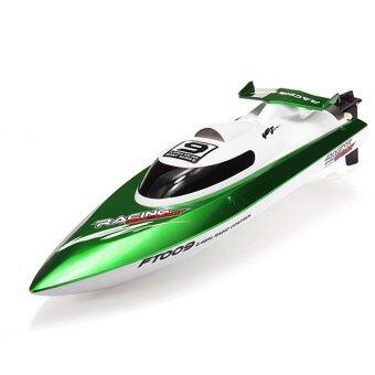 D Product By Feilun เรือบังคับ FT009 2Ch 2.4GHz ระบายความร้อนด้วยน้ำ แบตเตอรี่ Lipo 7.4 v. เลี้ยวด้วยหางเสือ (สีเขียว)