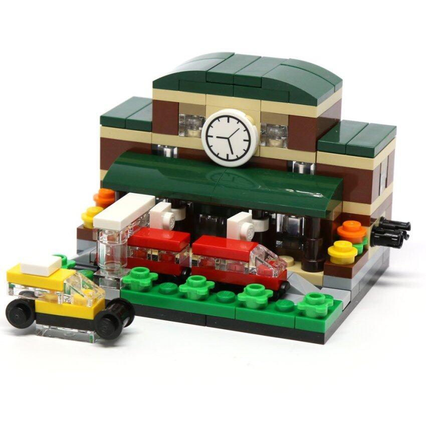 Decool CITY Mini Street View Bricks Toys Lego (Train Station) ชุดตัวต่อ เลโก้ ของเล่น (สถานีรถไฟ)