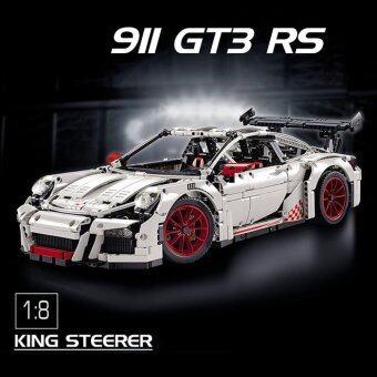 Decool Technic ตัวต่อรถ Porsche 911 GT3 RS สีขาว 2709 ชิ้น