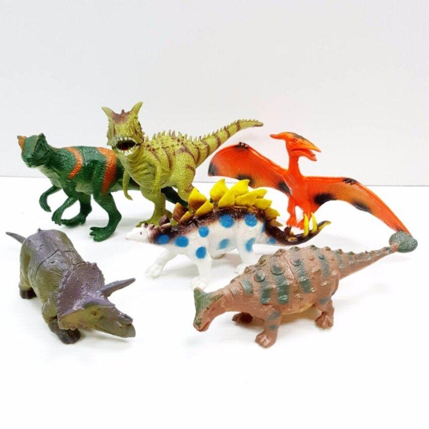 Dinosaurs Colorful #2 ไดโนเสาร์ ยาง สีสันสดใส