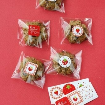 Diotem 120pcs/set Holiday Stickers Strawberry Seal Stickers - intl