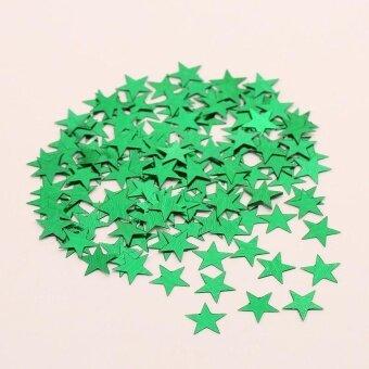 Diotem Pentagram Bright Piece Birthday Party Confetti WeddingDecoration - Green - intl