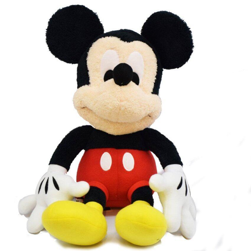 Disney ตุ๊กตา Mickey ขนาด 22 นิ้ว (สีดำ/แดง)