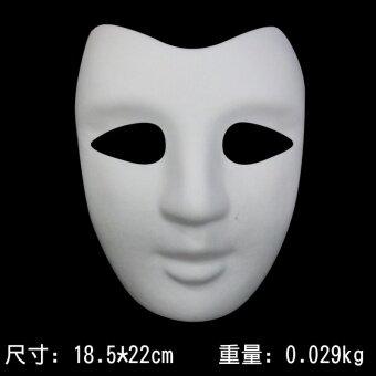 DIY สีขาวฮาโลวีนหน้ากากเยื่อกระดาษสีเขียว