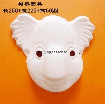 DIY สีขาว Koala เป็นมิตรกับสิ่งแวดล้อมเยื่อใบหน้าหน้ากาก