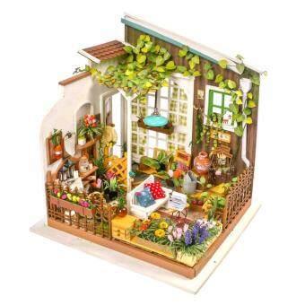 บ้านตุ๊กตาจำลองของเล่นประกอบเอง แฮนด์เมด ชุด ระเบียงสวน DIY Miniature DollHouse Kit DG108-Miller's Garden